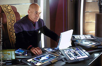 Patrick Stewart  as Captain Picard in Star Trek: Insurrection