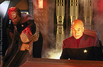 Patrick Stewart Michael Dorn and  in Star Trek: Insurrection