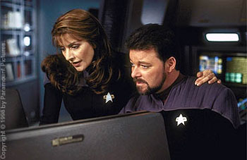 Jonathan Frakes Marina Sirtis and  in Star Trek: Insurrection