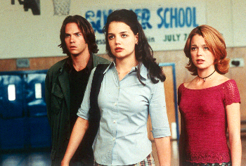 Teaching Mrs. Tingle Barry Watson, Katie Holmes and Marisa Coughlan in  - 8/99