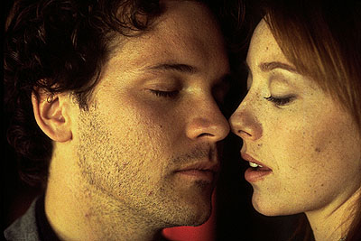 Molly Parker Peter Sarsgaard and  in Artisan's The Center Of The World - 2001