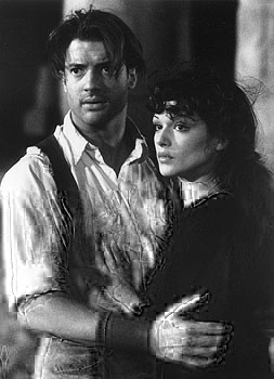 Brendan Fraser and Rachel Weisz in Universal's The Mummy - 1999