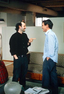 Keith Gordon Director  and Billy Crudup on the set of USA Films' Waking The Dead - 2000
