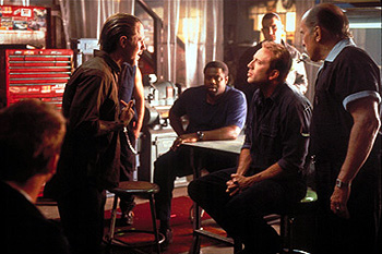 Vinnie Jones Giovanni Ribisi, Chi McBride, Nicolas Cage,  and Robert Duvall in Touchstone's Gone In 60 Seconds - 2000