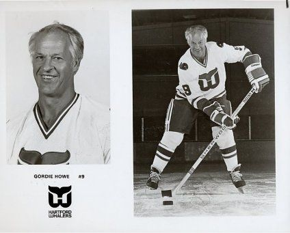 Gordie Howe with  the Hartford Whalers 1980