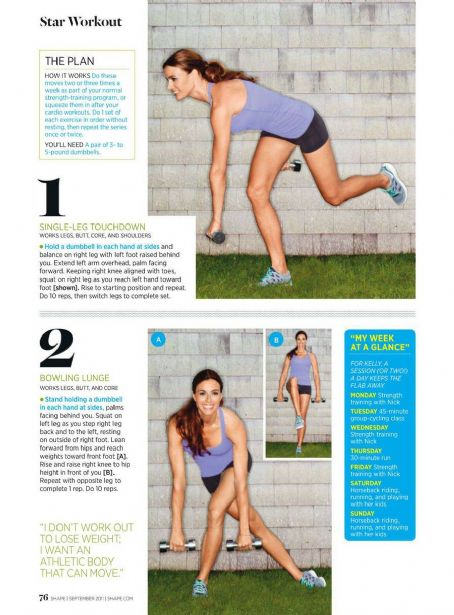 Kelly Bensimon Shape Magazine September 2011