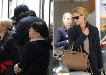 Bar Refaeli and Leonardo DiCaprio: NYC Arrival