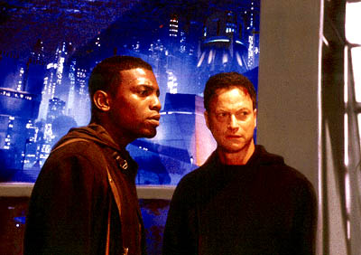 Gary Sinise Mekhi Phifer and  in Dimension's Impostor - 2002