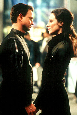 Gary Sinise  and Madeleine Stowe in Dimension's Impostor - 2002