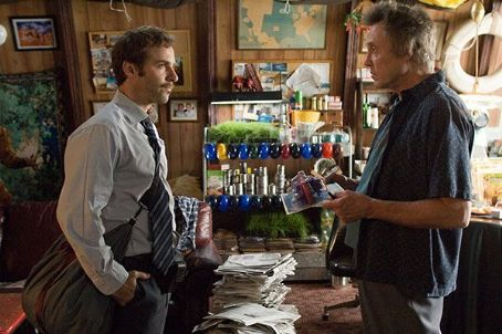 Alessandro Nivola  as Ritchie Flynn Parker and Christopher Walken as Nat Parker in $5 a Day.