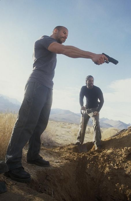 Larenz Tate Vin Diesel stars as Sean Vetter  and  stars as Demetrius Hicks  in New Line's A Man Apart - 2003