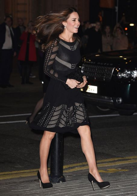 Duchess Kate in black crocheted Temperley for a London gala: pretty or bland?