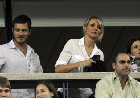 Cameron Diaz And British Model Paul Sculfor Watch Andy Roddick Play Fernando Gonzalez At The 2008 U.S. Open, 02.09.2008.
