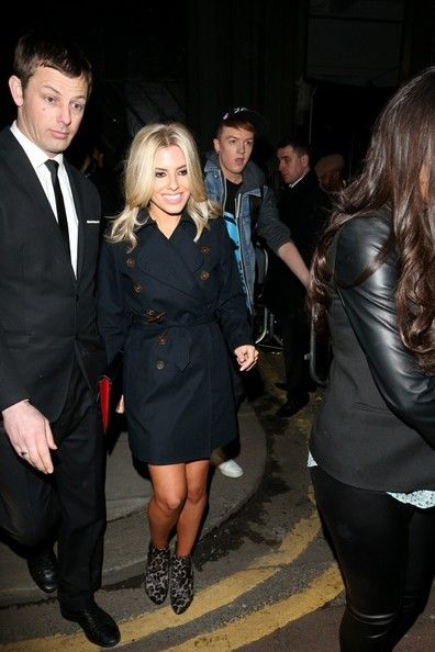 Mollie King: at London Fashion Week