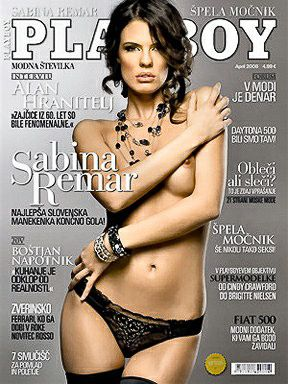 Sabina Remar - Playboy Magazine Cover [Slovenia] (April 2008)