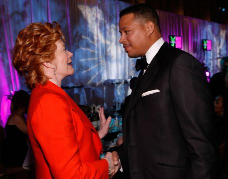 Kathleen Noone Actress  (L) and actor Terrence Howard