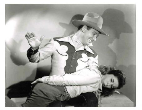 Edith Fellows - Edith with Gene Autry