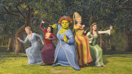 Rapunzel In 'Shrek the Third,' Princess Fiona (center, voice of Cameron Diaz) is  joined by (left to right) obsessive-compulsive Cinderella (voice of Amy  Sedaris), prissy-but-sarcastic Snow White (voice of Amy Poehler), opinionated  (voice of Maya