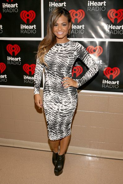 Christina Milian: appears backstage during the 2012 iHeartRadio Music Festival at the MGM Grand Garden Arena