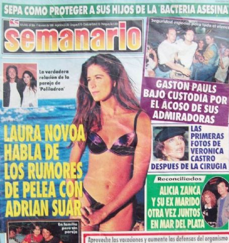Laura Novoa - Semanario Magazine Cover [Argentina] (17 January 1997)