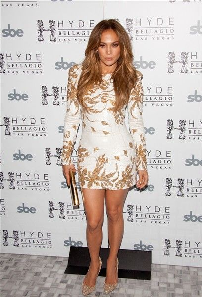 Jennifer Lopez makes a special appearance at Hyde Bellagio in Las vegas to celebrate the launch of her new single on May 26, 2012