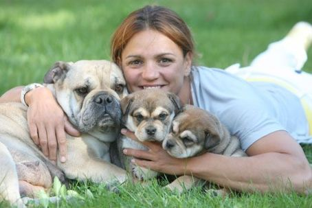 Katalin Kovács  - With her dogs