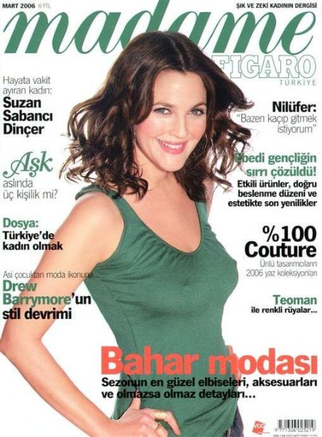 Drew Barrymore - Madame Figaro Magazine Cover [Turkey] (March 2006)