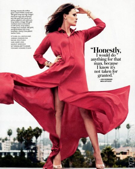 Ben Affleck - Jennifer Garner InStyle US January 2012