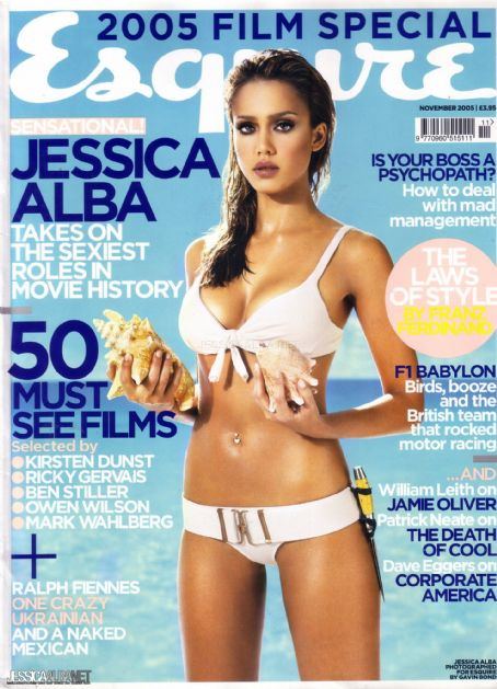 Jessica Alba - Esquire Magazine Cover [United Kingdom] (November 2005)