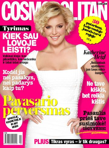 Katherine Heigl - Cosmopolitan Magazine Cover [Lithuania] (March 2012)