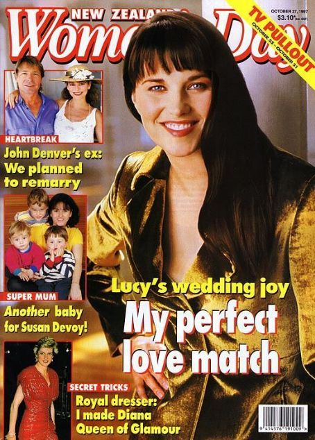 Lucy Lawless, Princess Diana, John Denver, Susan Devoy - Woman's Day Magazine Cover [New Zealand] (27 October 1997)
