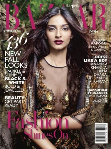 Sonam Kapoor - Harper's Bazaar Magazine Cover [India] (September 2011)
