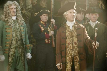 Tom Hollander (L-R) JONATHAN PRYCE, GILES NEW, TOM HOLLANDER, ANGUS BARNETT (OBSCURED), DAVID SCHOFIELD. Photo Credit: Peter Mountain © Disney Enterprises, Inc. All Rights Reserved.