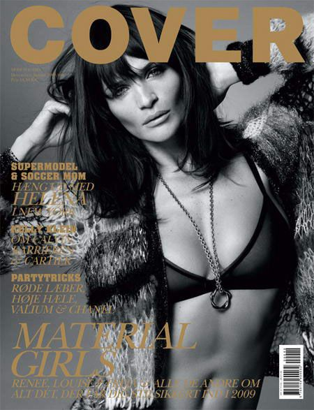 Helena Christensen - Cover Magazine Cover [Denmark] (December 2008)