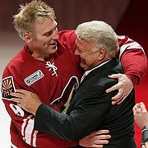 Bobby Hull Bobby with son Brett