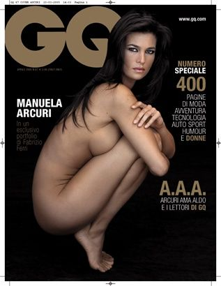 Manuela Arcuri - GQ Magazine Cover [Italy] (April 2005)