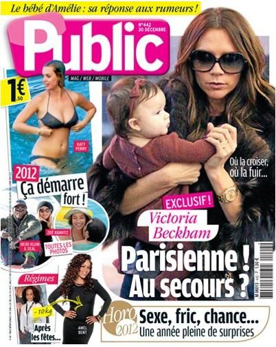 Victoria Beckham - Public Magazine Cover [France] (30 December 2011)