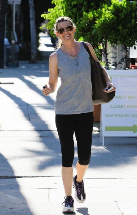 Ellen Pompeo: Arrives at a pilates class