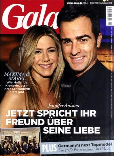 Jennifer Aniston - Gala Magazine Cover [Germany] (8 March 2012)