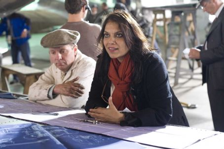 Amelia Director Mira Nair on the set of AMELIA. Photo Credit: Ken Woroner