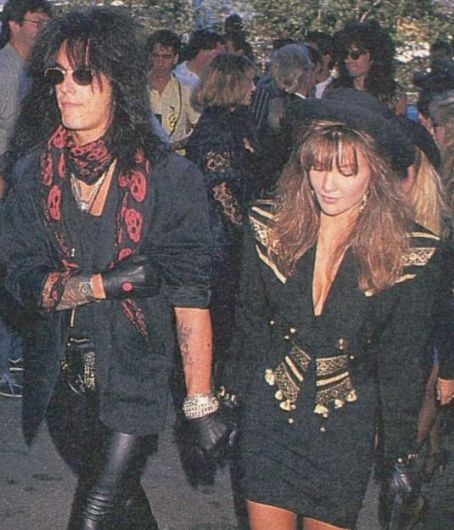 Brandi Brandt - Nikki Sixx and Brandi at MTV Music Awards 1989