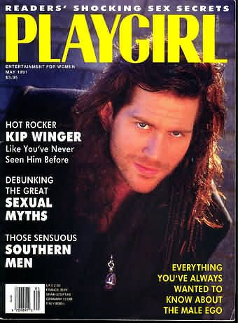 Kip Winger - Playgirl Magazine Cover [United States] (May 1991)