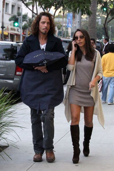 Vicky Karayiannis - Chris Cornell and wife Vicky walks in Beverly Hills