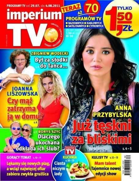 Anna Przybylska - imperium TV Magazine Cover [Poland] (29 July 2011)