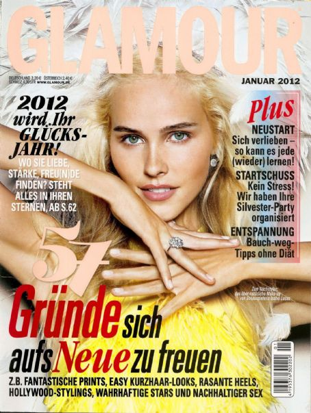 Isabel Lucas - Glamour Magazine Cover [Germany] (January 2012)