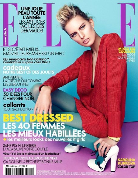 Karolina Kurkova - Elle Magazine Cover [France] (9 December 2011)