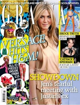 Jennifer Aniston - Grazia Magazine Cover [United Kingdom] (15 November 2011)