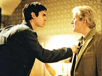 Max Minghella as Aaron Naumann and Richard Gere as Saul Naumann in Fox Searchlight's drama The Bee Season - 2005
