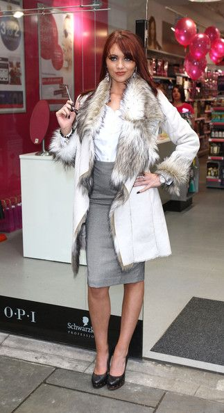 Amy Childs of The Only Way is Essex opens the latest Sally salon services store in Fulham, London Nov. 20,2010