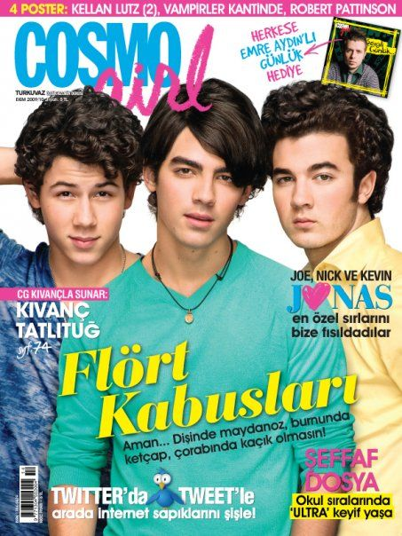 Nick Jonas, Joe Jonas, Kevin Jonas - Cosmo Girl Magazine Cover [Turkey] (October 2009)